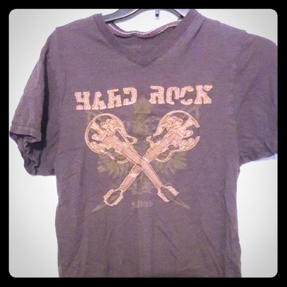 Other - Hard Rock Cafe - gray short-sleeved v-neck